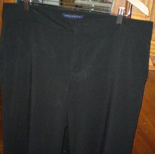 Womens Ashley Judd Black Dress Pants Size 14