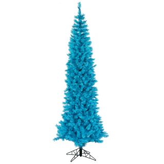 ft Sky Blue Ashley Slim Pencil Blue Lights Pre Lit Christmas Tree