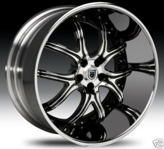 22 asanti 150 ELT Forging Chrome Black Wheels Big Lips