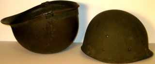 Authentic 1954 Vietnam US Army Helmet Liner Soldier Named