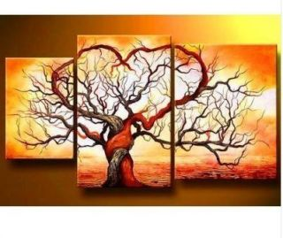 Modern Abstract Canvas Art Drawing Room Oil Painting Tree 016