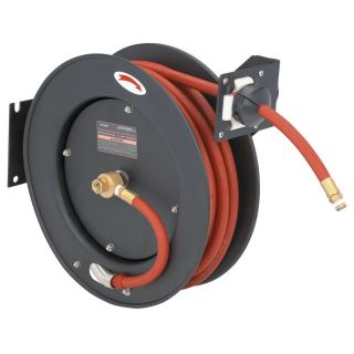 50 ft Retractable Air Water Hose Reel with 3 8 Hose