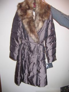 Baby Phat Maxi Wrap Espresso Brown Jacket Coat Large Beautiful