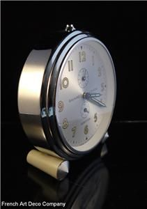 bayard stentor french art deco chrome clock c1935