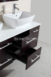 modern bathroom vanities wood cabinet furniture w sinks top & mirror