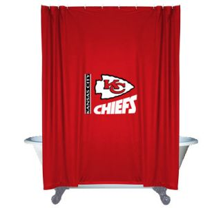 New NFL Kansas City Chiefs Decorative Shower Curtain Football Bathroom