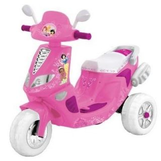 kids battery powered ride on toy princess disney motorcycle scooter