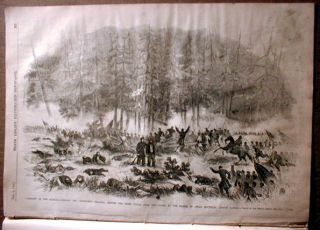 Civil War Newspaper Battle of Cedar Mountain Virginia