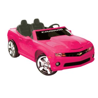 Kids Battery Powered Ride on Toy 2 Seats Seater Pink Camaro Sports Car