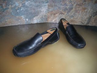 Rockport Mens Loafers Shoes Slip Ons Comfort Shoes Black Leather Sz 9M