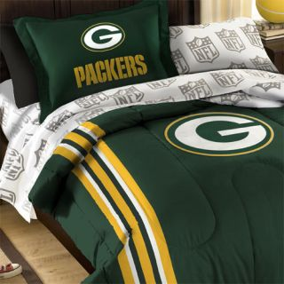 NFL GREEN BAY PACKERS TWIN SINGLE BEDDING SET Green Football Comforter