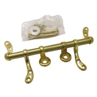 New Lasco 14 1053 Toilet Seat Hinge Polished Brass Metal with Bolts