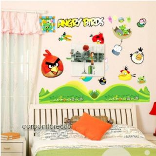 Angry Birds Reusable Wall Stickers Kids Nursery Boys Children Room