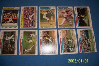 1974 Topps World Series Complete Set New York Mets vs Oakland As