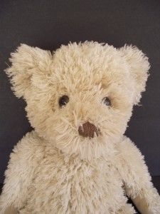 Retired Russ Berrie 18 Benet Plush Teddy Bear Cream Stuffed Animal