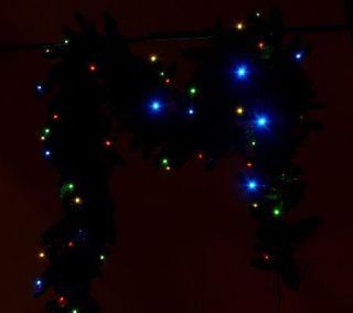 Bethlehem Lights Solutions Extra Large 9 Garland with Pinecones Timer
