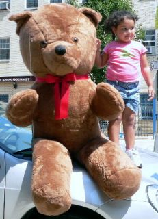 Giant 68 Teddy Bear Big Plush Stuffed Animal Med Brown