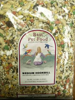 Best Pet Food Bird Seed Medium Hookbill Birds 3 5 Lbs