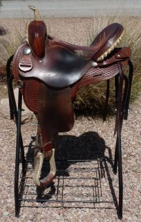 Gerald Bethune Deep Seat Barrel Racing Trail Saddle 15