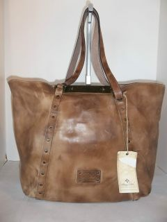 Patricia Nash Brown Rub Leather Benvenuto Tote Handbag