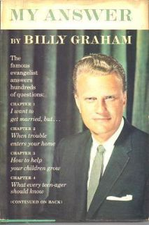 My Answer 1960 by Billy Graham Answers to Questions