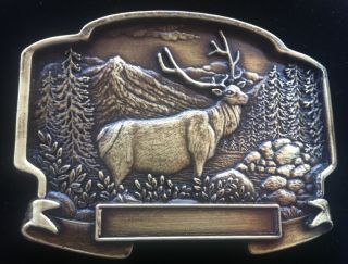 Canada Hunter Hunting Big Game Sports Elk Moose Buckles Boucle de
