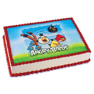 Edible Angry Birds Birthday Cake Topper Image Party Supplies