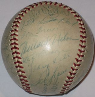 Ted Williams 1954 Red Sox Team Autograph Baseball PSA DNA LOA Boston