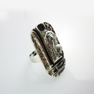 Beautiful Magic Black and Bronze Crystal Ring Fashion Jewelry Ethnic