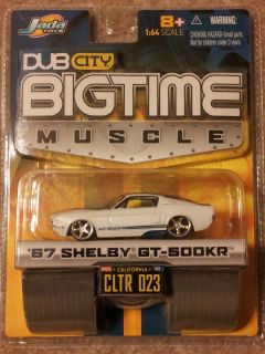 Jada Toys 2005 Dub City Big Time Muscle 67 SHELBY GT 500KR MINT