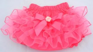 New Diaper Covers Ruffle Pants Bloomers Baby Toddler Girls Pink 0 24 M