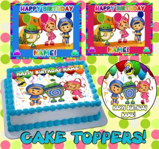 Team Umizoomi Birthday Cake Topper Edible Picture for Image Frosting
