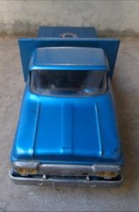 Vintage Tonka Toys Mound Minnisota Blue Flat Bed Truck Nice Streight