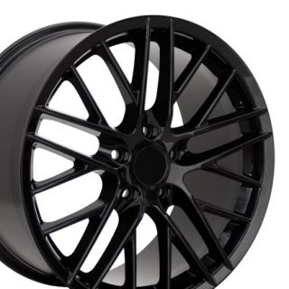 19 18 Corvette C6 ZR1 Black Wheels Set of 4 Rims Fit Chevrolet