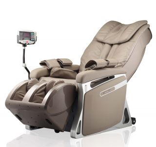 New MD E05 Full Body Massage Chair Black Leather Et