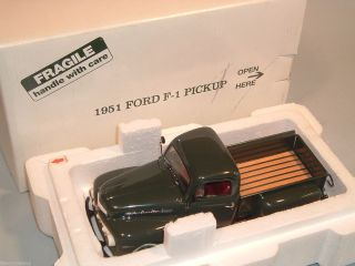 DANBURY MINT 1951 FORD F 1 PICKUP TRUCK GREEN DIECAST 1 24 MINT IN