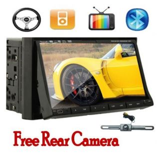 2012 New HD 2 DIN 7 Car Stereo DVD Player Bluetooth Radio TV iPod