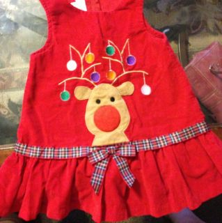 Bonnie Baby Baby Girl Christmas Jumper Dress Sz 24M