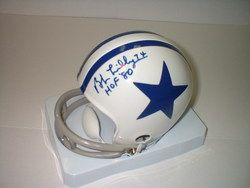 Bob Lilly Autographed Mini Helmet Dallas Cowboys 1 HOF