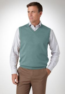 bobby jones men s merino v neck sweater vest v neck 100 % zegna