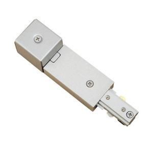 Hampton Bay Brushed Steel Conduit Power Feed for Linear Track Lighting