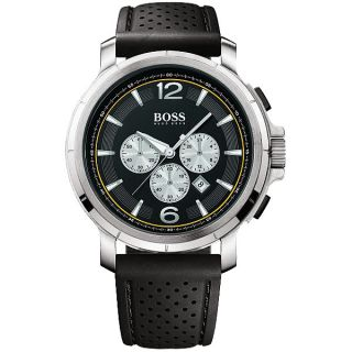 Hugo Boss Chronograph Black Rubber Strap Mens Sport Watch 1512455