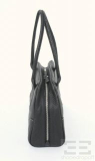 Prada Black PEBBLED Deerskin Leather Bowler Bag