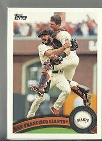 2011 Topps 39 Card San Francisco Giants Team Set Series 1 2 Update