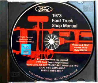 FORD PICKUP VAN TRUCK REPAIR SHOP MANUAL CD F100 F150 F250 F350 BRONCO