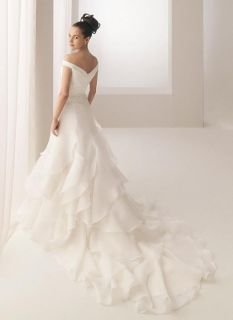 Cap Sleeve Applique Layered Wedding Dresses Bridal Gowns Custom