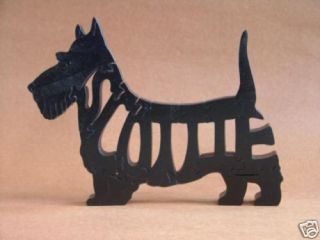 Scottie Dog Scottish Terrier Wooden Puzzle Amish Toy