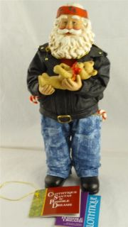 Clothtique Biker Santa Claus Motorcycle Teddy Bear Toy Possible Dreams