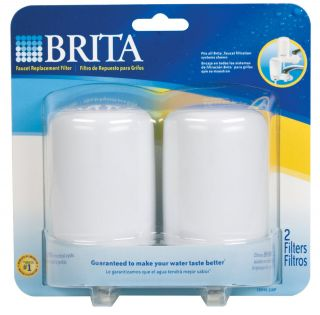Brita Water Filter Faucet Mount WHITE 2 NEW Pcs FR 200 Fast Shipping 3
