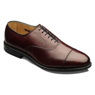Allen Edmonds Mens Park Avenue Merlot Burnished Leather Shoe 5875